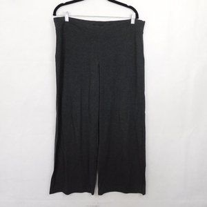 Eileen Fisher Gray Wide Leg Active Pull On Pants M